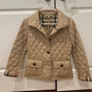Classic Burberry Brit quilted jacket. XS